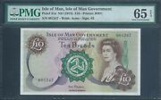 Isle Of Man Andpound10 P31a Nd1972 Low No. 1247 Pmg 65 Epq Gem Uncirculated
