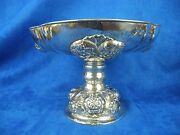 Antique 800 Silver Repousse Large Footed Bowl Germany Bruckmann And Sohne
