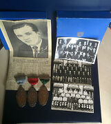 1951 Australia Commonwealth England Collection 3 Medals 3 Postcards Box Football