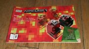 Lego Minecraft 21106 Micro World The Nether 1 Manual Only Instruction Toy Legos
