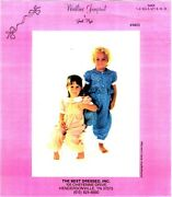 Best Dressed Sewing Smocking Pattern Girland039s Jumpsuit 8825 Janet Hyde 4-5-6 Uncut