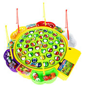 Fishing Game Electric Musical Fishing Toy With 45 Fishes, Xmas Gift For Kids