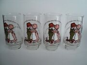 4 Holly Hobbie Glass Tumbler The Easiest Tasks Are Those Done With Love Cocacola