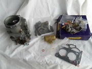 Ford Double-single Barrel Carb Carbuertor 1 1/16 Ecg + Some Parts Kit Parts