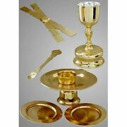 Chalice Set 1.0 Litr Sterling Silver Cup Liner Gold Plated