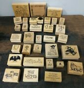 103+ New Vintage Various Stampin' Up Wood Mounted Stamps Crafting Scrapbook A3-3
