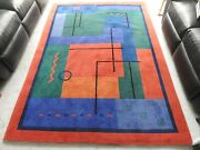 100 Pure Wool Hand Knotted Tibetan Rug Very Modern Contemporary Design