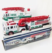 Hess Battery Operated Toy Truck Lot Of 2 Emergency Truck 1996 And Fire Truck 2000