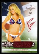 Michelle Baena 2012 Benchwarmer National 1st And 10 Red Foil Auto Card 1/1