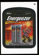2013 Topps Wacky Packages Series 11 Cloth Sticker 33 Energeezer