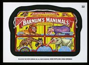 2013 Topps Wacky Packages Series 11 Black Ludlow Back 32 Barnum's Manimals