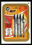 2013 Topps Wacky Packages Series 11 Gold Parallel Card 35 Bit Pre-chewed Pens