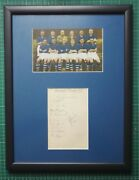 1937 Tranmere Rovers Signed Mounted Album Page And Photo In 17 X 13 Frame Football