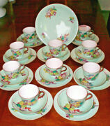 James Green And Nephew Dessert Set For 10, 31 Pieces, Antique, Blackberry Pattern
