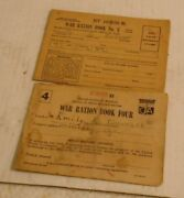 Wwii Ration Book Jersey Ga Stamps Ww2 World War Two Vtg Ww Ii Paper
