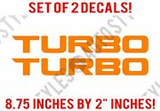 Sale Fits Honda Civic Car Turbo For 2016+ Vtec Pair Of Vinyl Decal Stickers