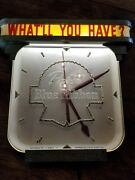 Vintage Pabst Blue Ribbon Electric Advertising Clock Pbr Beer Bar Retro Rare Wow