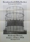 Bernd And Hilla Becher ......... Rare Collectable Poster/early Catalogue