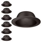 6-inch Recessed Can Light Trim With Oil Rubbed Bronze Step Baffle, Pack Of 6