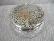 Antique Victorian Blackinton And Co Sterling And Cut Crystal Dresser Jar