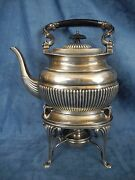 William Adams Ltd Sterling Silver George V Style Kettle On Lamp Stand