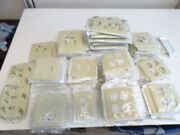 Lot Of 144 Ivory Outlet Cover Duplex Receptacle Plastic Wallplates