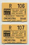 Tennessee Williams / Milk Train Doesnand039t Stop Here Anymore Opening Night Tickets
