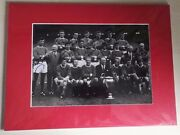 Manchester United Mounted Autograph Photograph 12 1968 European Cup Final Squad
