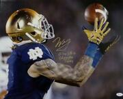 Will Fuller Signed 16x20 Catch Photo W/wf 3 Lines Play Like A Champ Today- Jsa W