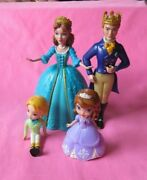 Disney Sofia The First Royal Castle King Queen James Figures Toy Cake Topper Lot
