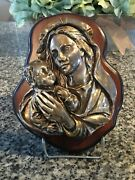 Silvero Holy Icon - Sterling Silver 999 Jesus Christ With Mary Made In Greece