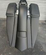 Harley Davidson Custom Baggers Pointy 7 Stretched Saddlebags And Fender 2009-19