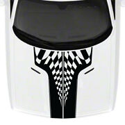 Fits 2008 -14 Challenger Race Checkered Hood Vinyl Decal Graphic 09 10 11 12 13