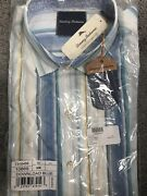 New Tommy Bahama In Stipe Download Blue Shirt Size M Retail 118 Long Sleeves