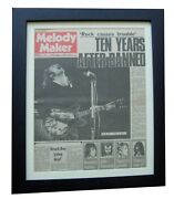 Ten Years After+melody Maker Rare Original 1970+poster+framed+fast Global Ship
