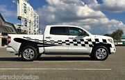 Side Racing Checkered Flag Graphic Stripe Decal Sticker Truck Vehicle Suv Pickup