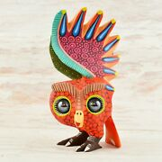 Magia Mexica A1793 Owl Alebrije Oaxacan Wood Carving Painting Handcrafted