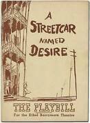 Tennessee Williams / Program A Streetcar Named Desire 1947