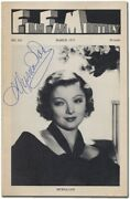 Myrna Loy / Film Fan Monthly No 141 March 1973 Signed