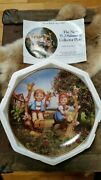 Hummel Porcelain Plate Apple Tree Boy And Girl 1989 New In Box