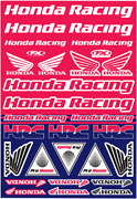 Factory Effex Oem Sticker Sheets Blue Red White Honda Racing 22-68332