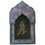 Vintage Signed Whimsical Dee Ann Segula Renaissance Cat Pull Toy Shadow Box