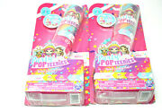 2 Party Popteenies Double Surprise Popper W/confetti Collectible Mini Doll-new