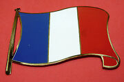 Vintage France French Flag Europe License Plate Auto Car Badge Made In Spain