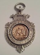 South Derbyshire S S Football League Silver Albert Prize Fob 1920and039s Gold Faced