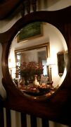 Antique Or Vintage English Wood Hall Stand Coat Rack Umbrella Stand And Mirror