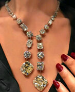 Solid 925 Sterling Silver Beautiful Big Stone Cocktail Party Necklace Jewelry