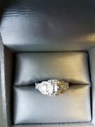 Antique Style Ring 3 Diamond 1ct Totalweight 14kwg