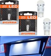 Sylvania Zevo Led Light 194 White 6000k Two Bulbs License Plate Replace Oe Fit