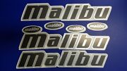 Malibu Boat Emblems 27 Set 3 Pieces + Free Fast Delivery Dhl Express - Stickers